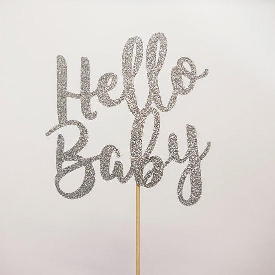 Hello Baby Baby Shower Cake Topper