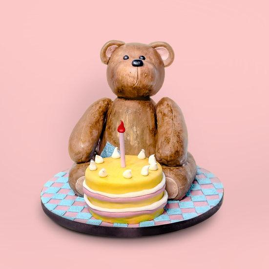 Teddy Bear Shaped Cake with a Cake