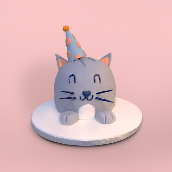 Cat with a Party Hat Cake