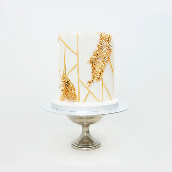 Art Deco Geode Cake