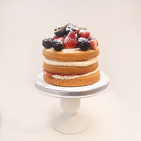 Naked Cake with Fresh Seasonal Fruits