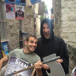 """Stan et Guillaume Meurice, metteur en scène du spectacle """"Le monde est un théâtre"""""""