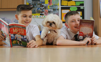 Meet the delightful doggie helping Duncanrig pupils boost their reading skills