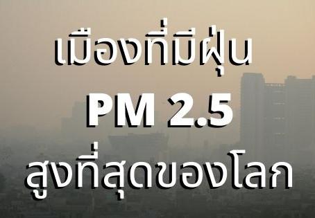 5 อันดับเมืองที่มีมลพิษ ทาง อากาศฝุ่น pm 2.5 สูงของโลก