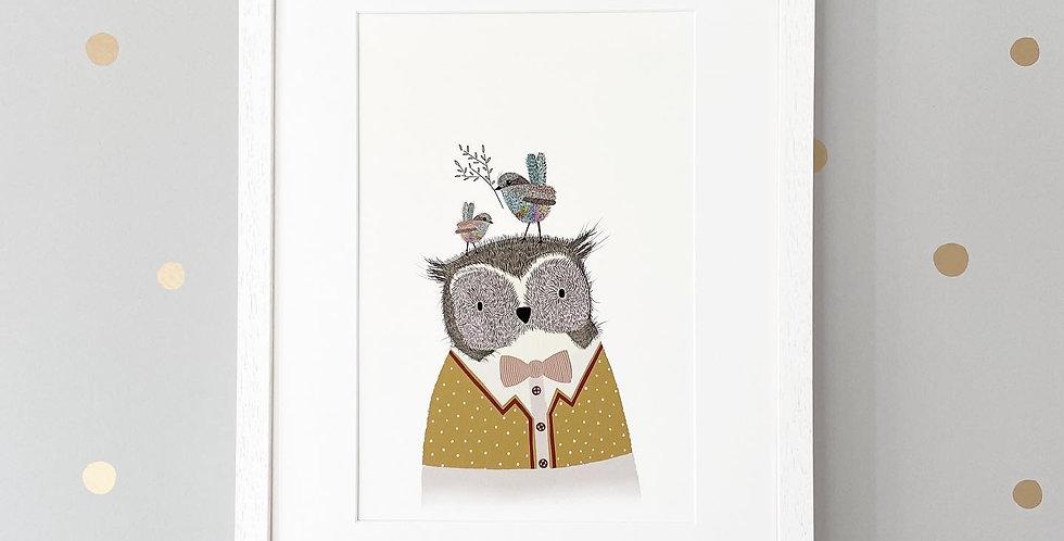 Birdy Owl Fine Art Giclee Print