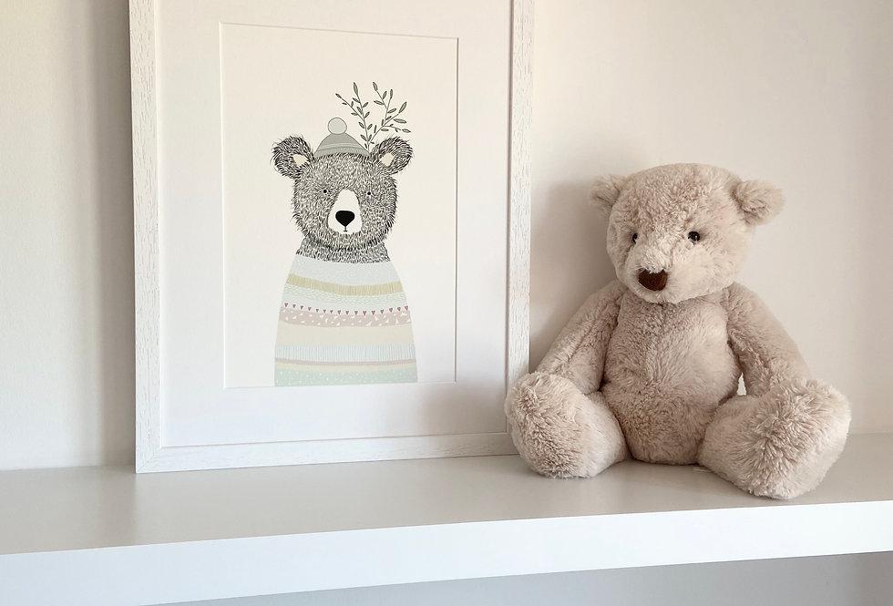 Personalised 'The Bear' Fine Art Giclee Print