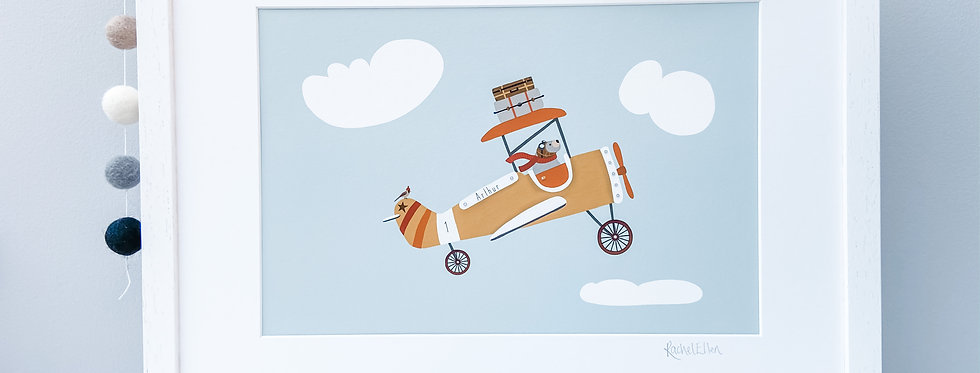 Personalised 'Fly High' Fine Art Giclee Print