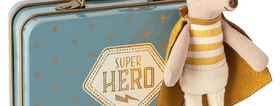 Maileg Little Superhero Mouse in Suitcase