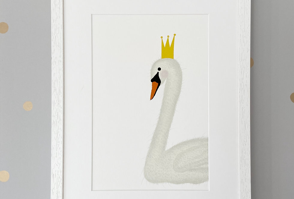 Personalised 'Swan Princess' Fine Art Giclee Print