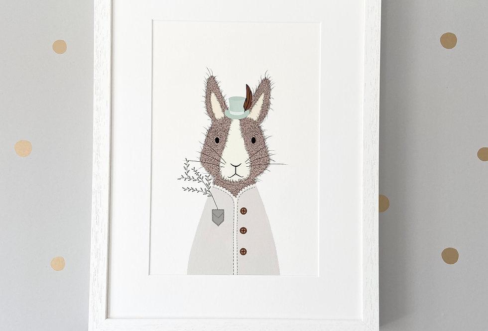 Personalised 'Magic Rabbit' Fine Art Giclee Print