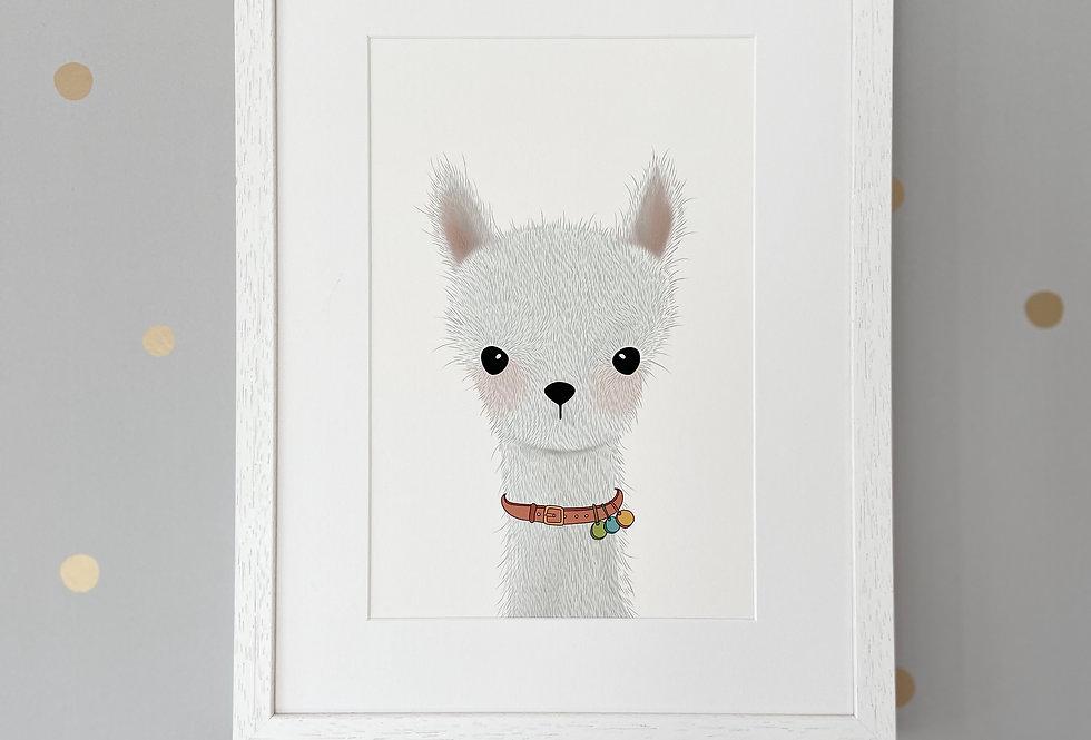 Personalised 'No Drama Llama' Fine Art Giclee Print