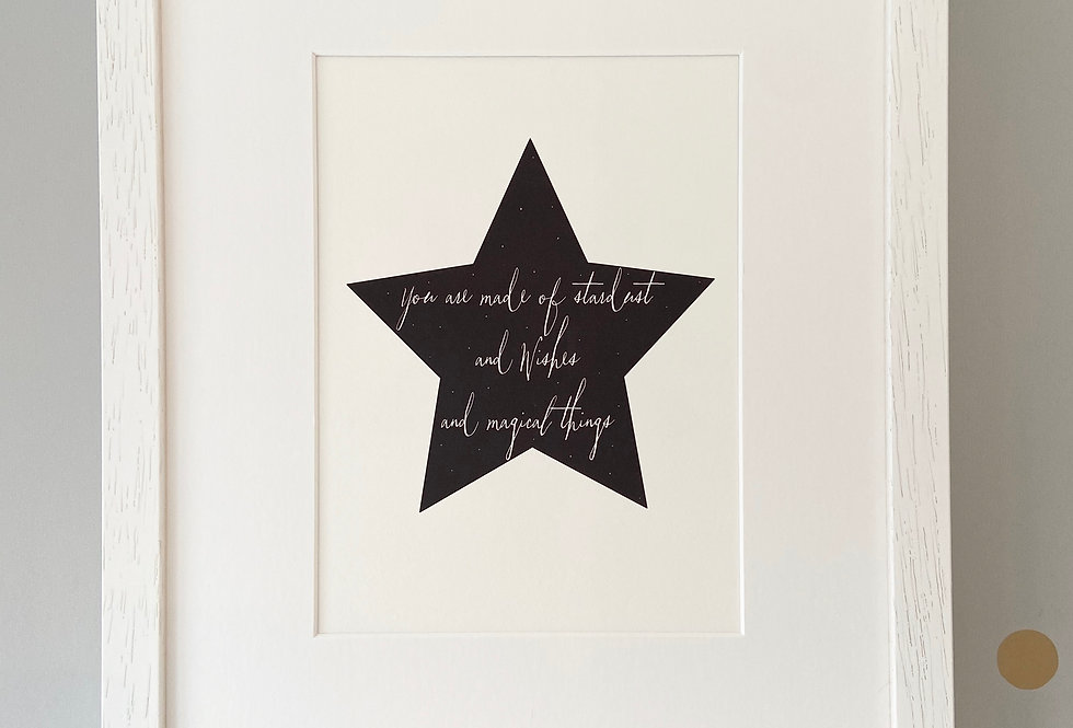 'You are made of stardust...' Fine Art Giclee Print