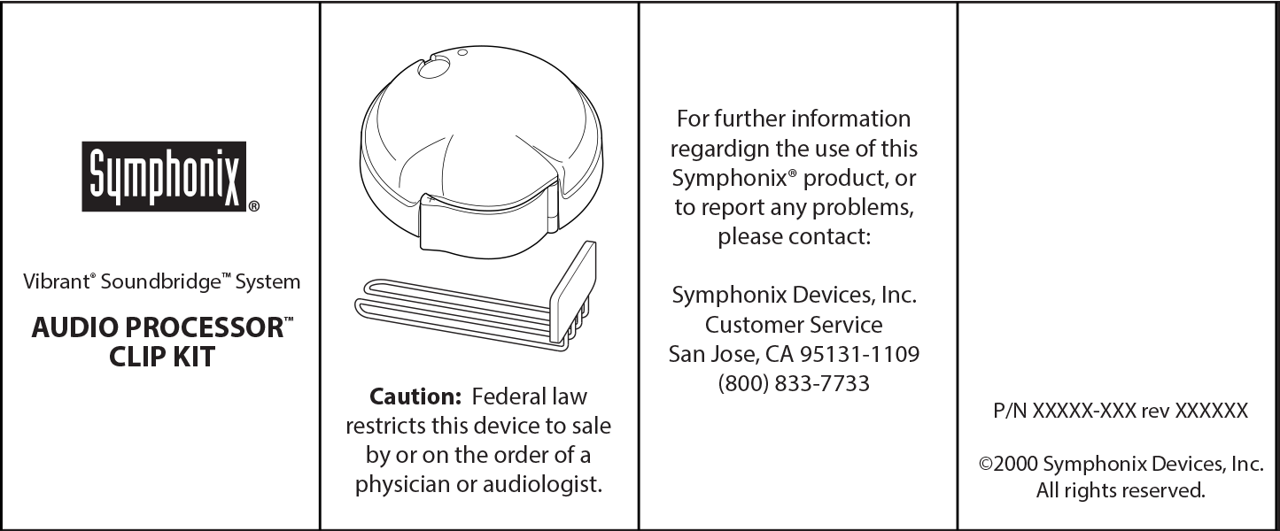 Symphonix Device Product Insert