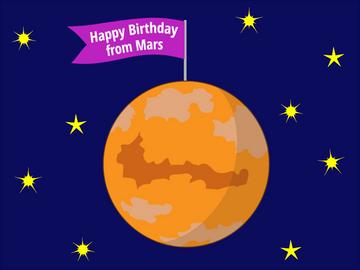 Happy Birthday from Mars