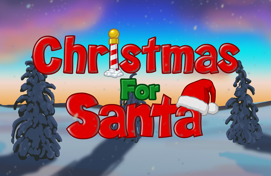 Christmas for Santa Title Slate