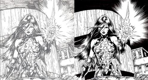 Comic Panel of Cyblade