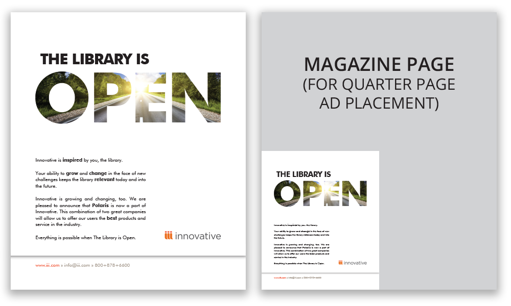 Library is Open Magazine Ad