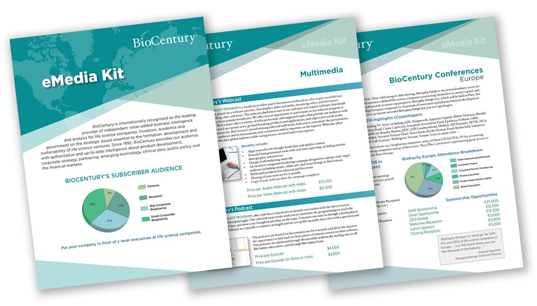 eMedia Kit for BioCentury Publications