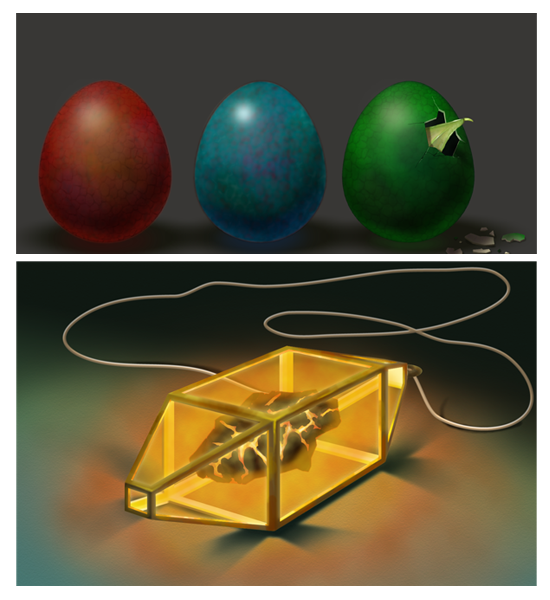 Dragon Eggs and Dragon Amulet