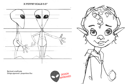 Alien Xmas - Model Sheets
