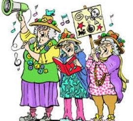 Raging Grannies voice melodious Protest
