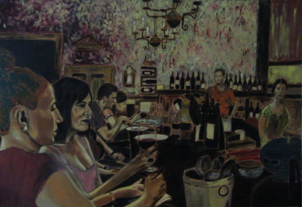 """במסעדת """"דוניה רוסה"""" - גרסה מס' 1"""