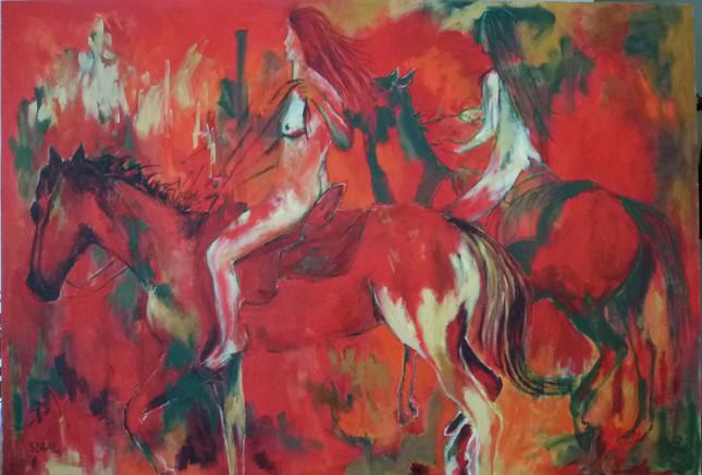 רוכבות באדום
