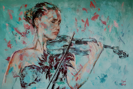 אישה וכינור