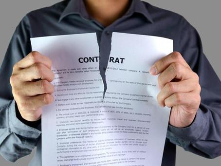 Rupture du contrat