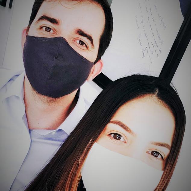 Dr. Andre Baero e a bailarina Nathália Ramos
