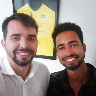 Dr. Andre Balero e o bailarino internacional Edivaldo Souza da Silva