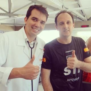 Dr. André Balero e Rogério Ceni