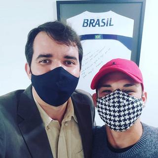 Dr. Andre Balero com Gustavo Bueno Freitas do futebol nos EUA