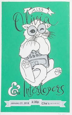 Miss Olivia & The Interlopers Poster