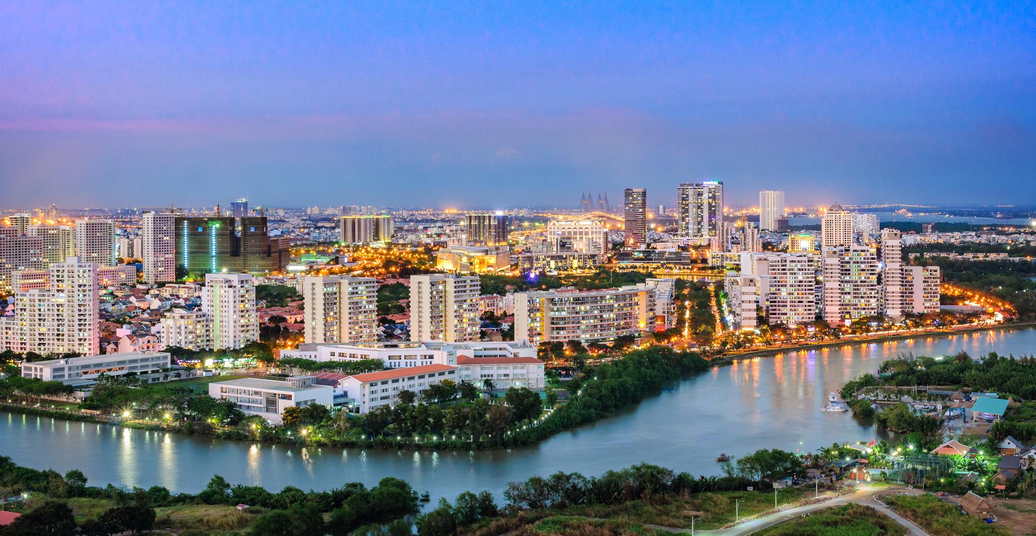 View nhìn về Phú Mỹ Hưng