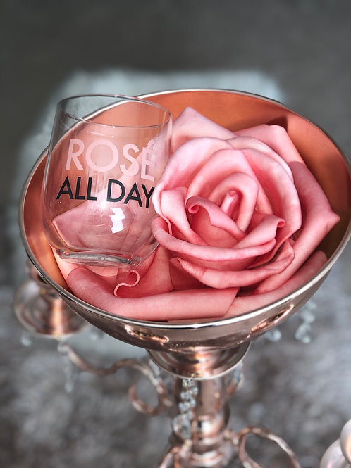 ROSE ALL DAY STEMLESS CHAMPAGNE GLASS