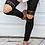 Thumbnail: Hollow Out Black Lace Leggings