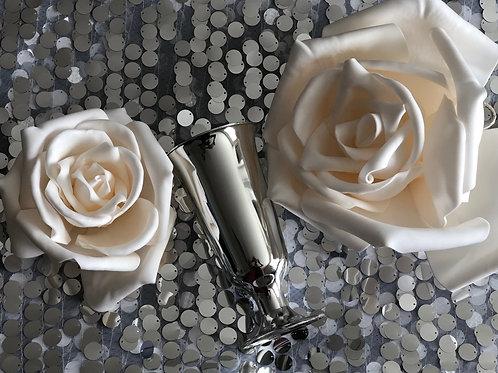Silver Centerpiece Vase