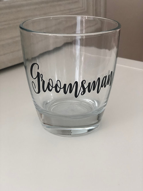 Groomsman Stemless Glass 12.5 oz