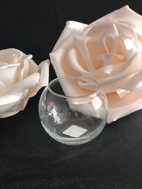 Small Round Glass Centerpiece Bowl