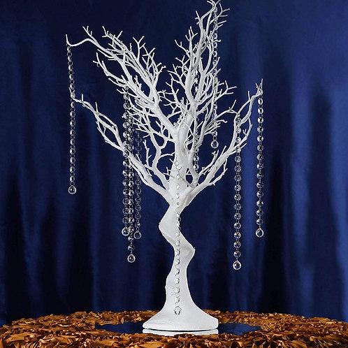 "30"" White Glittered Manzanita Tree Centerpiece"