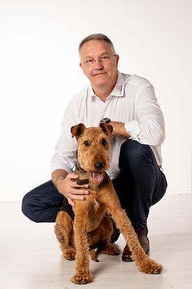 Herr Schellknecht mit Hund