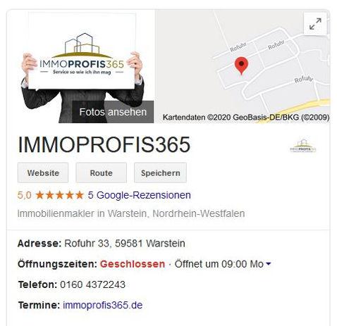 echte Google Bewertungen Immobilienmakler Warstein und Soest