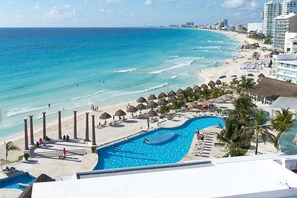 The beach at Cancun Hotel Zone
