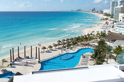 The beach at Cancun Hotel Zone