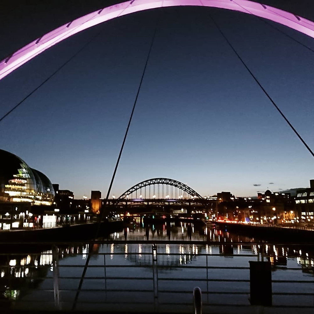 Bridges of the Tyne at sunset