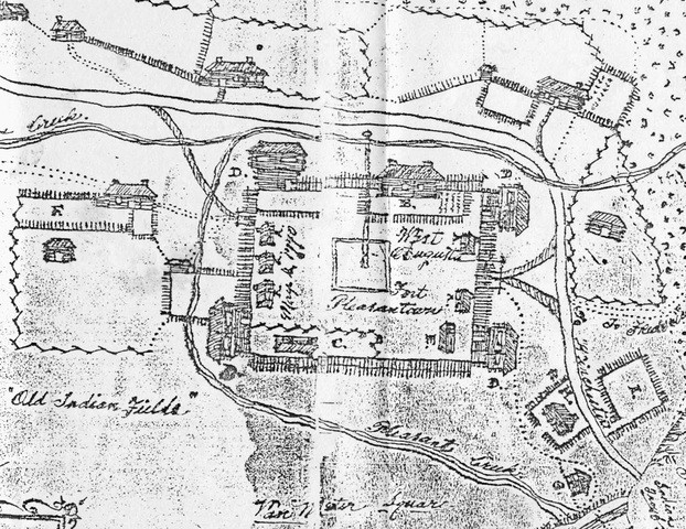 A drawing of Fort Pleasant signed by James Witt and dated May 1770 is on file at the Hardy County Library. The drawing shows blockhouses at the corners of the fort, suggesting that the fort was either remodeled or totally rebuilt sometime after the French and Indian War. During a visit to Abraham Hite at Old Fields on September 28, 1784, George Washington indicated in his diary that the old fort was still standing.  --- source is ---- https://www.wvencyclopedia.org/articles/2050