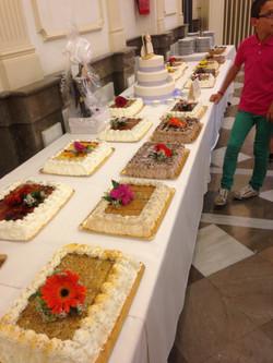 Bufe de tartas para bodas.