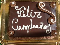 Tarta recubierta de chocolate