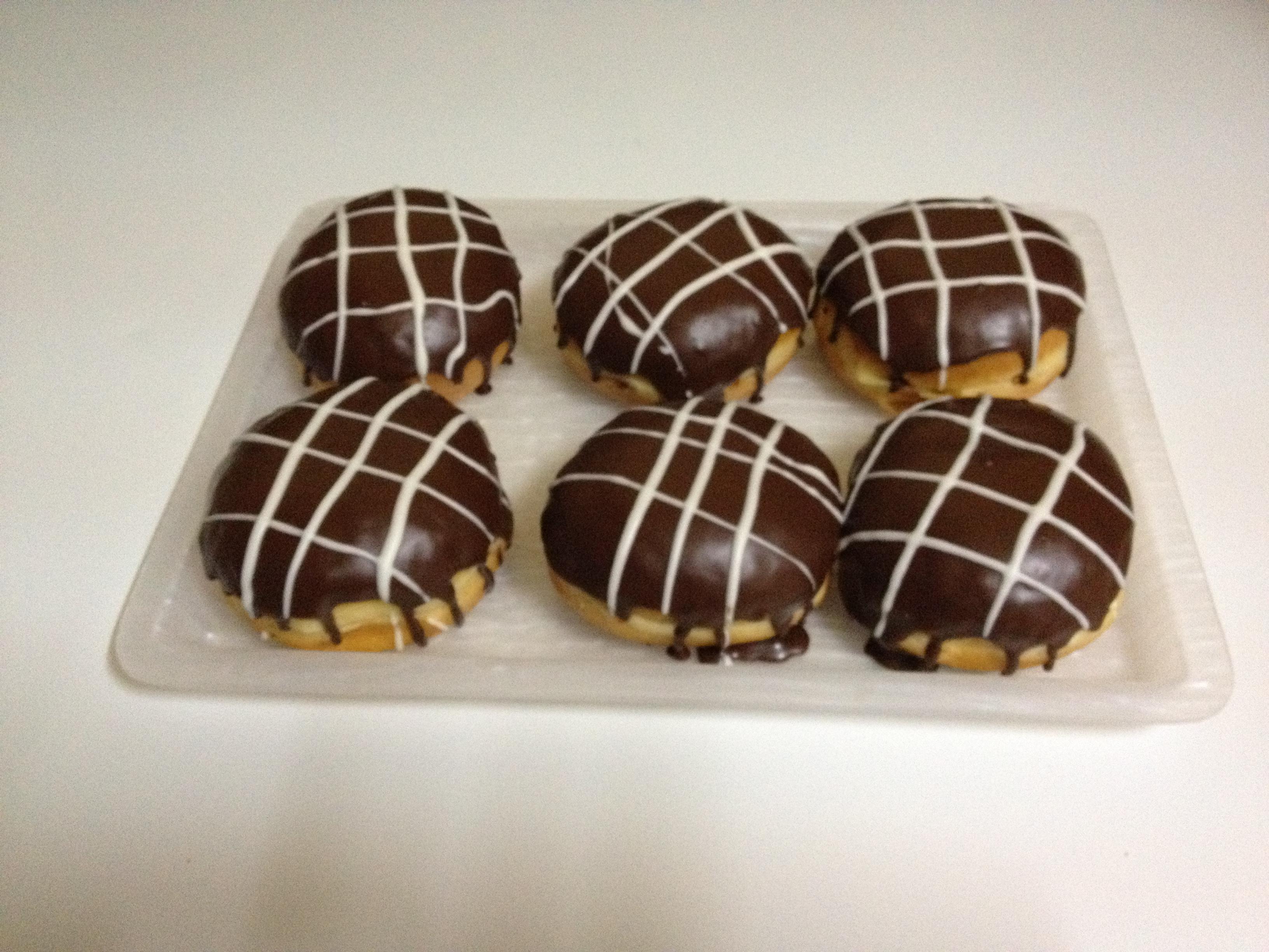 Bolas rellenas de chocolate.